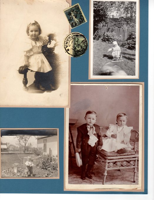 Photo in the bottom left was taken at 4500 Perry Street, Denver CO; my Grandmother Tabor's home.  Do not recognize the child playing in the yard.