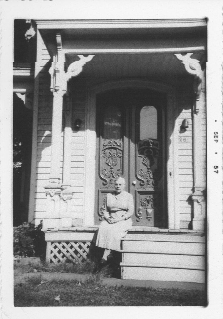 Sept 1957 at her sister, Anna's, home with the home address of 26 in Afton NY
