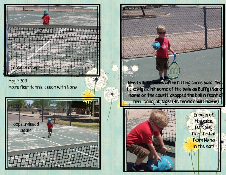 1 Max plays tennis